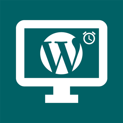 icon wordpress maintenance timed